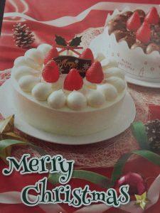 クリスマスケーキ、デザイナー同席撮影。